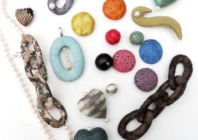 Aussergewöhnliche Lederarten - Perlenzauber Schmuckdesign